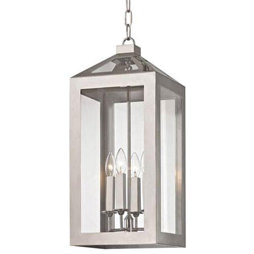 Hannington Polished Nickel 10-Inch Four-Light Lantern Pendant