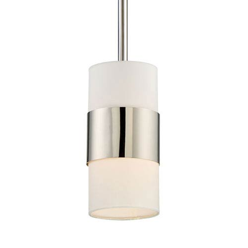 Mill & Mason Colton Polished Nickel One-Light Mini-Pendant