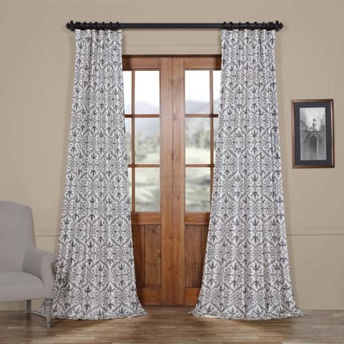 Rose Street Gate Grey 96 x 50 In. Faux Silk Taffeta Blackout Curtain
