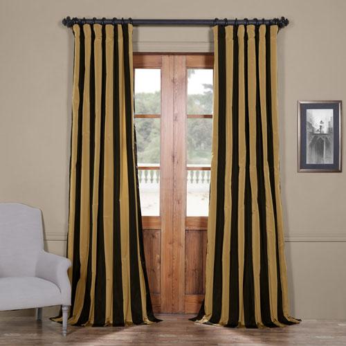 Regency Faux Silk Taffeta Stripe Single Panel Curtain, 50 X 120