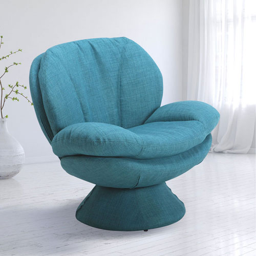 Comfort Chair Rio Turquoise Fabric Leisure Chair