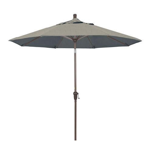 9 Foot Aluminum Market Umbrella Auto Tilt Champagne/Sunbrella/Spectrum Dove