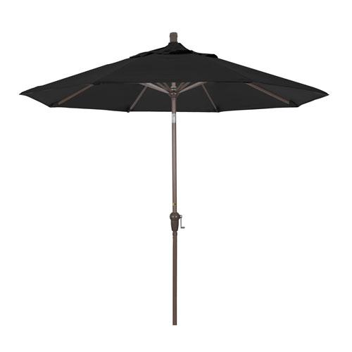 9 Foot Umbrella Aluminum Market Auto Tilt Champagne/Sunbrella/Black