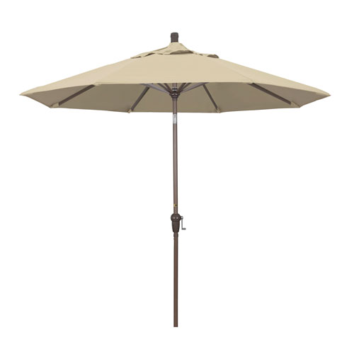 9 Foot Umbrella Aluminum Market Auto Tilt Champagne/Sunbrella/Antique Beige