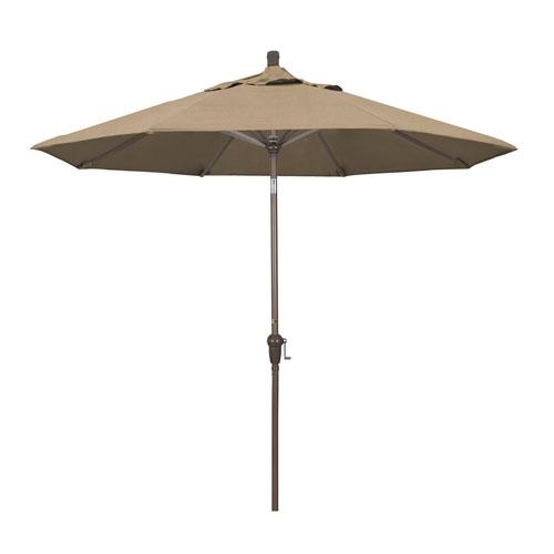 California Umbrella 9 Foot Umbrella Aluminum Market Auto Tilt Champagne/Sunbrella/Heather Beige