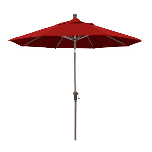 9 Foot Umbrella Aluminum Market Auto Tilt Champagne/Pacifica/Red