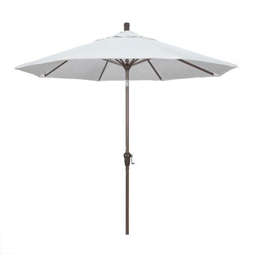 9 Foot Umbrella Aluminum Market Auto Tilt Champagne/Pacifica/Natural
