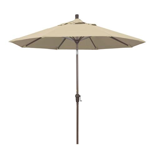 9 Foot Umbrella Aluminum Market Auto Tilt Champagne/Pacifica/Beige