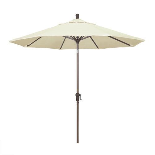 9 Foot Umbrella Aluminum Market Auto Tilt Champagne/Pacifica/Canvas