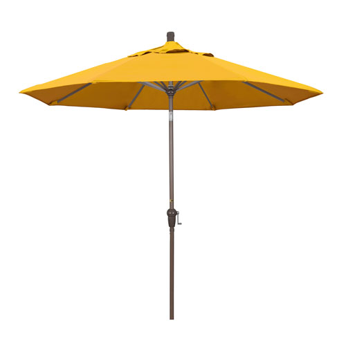 9 Foot Umbrella Aluminum Market Auto Tilt Champagne/Pacifica/Yellow
