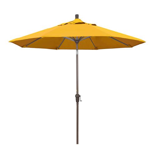 California Umbrella 9 Foot Umbrella Aluminum Market Auto Tilt Champagne/Pacifica/Yellow