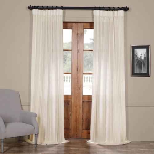 Aruba White Striped 108 x 50-Inch Sheer Curtain Single Panel
