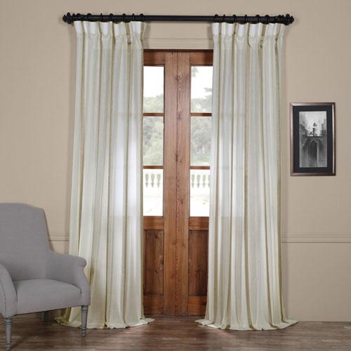 Half Price Drapes Antigua Gold Striped 84 x 50-Inch Sheer Curtain Single Panel