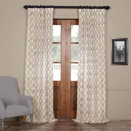 Half Price Drapes Saida Chocolate Brown 84 x 50-Inch Curtain Single Panel