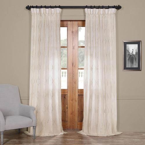 Half Price Drapes Suez Natural Brown 84 x 50-Inch Curtain Single Panel