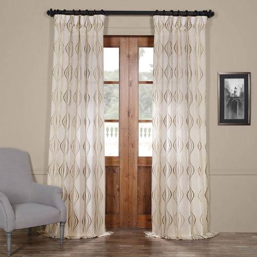 Suez Bronze 120 x 50-Inch Curtain Single Panel