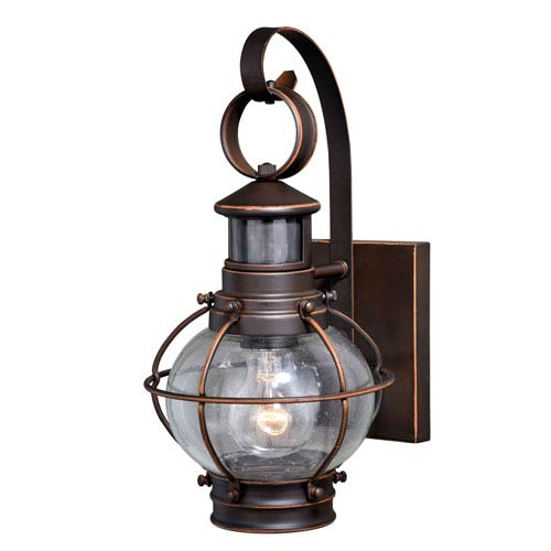 Vaxcel Chatham Burnished Bronze 14-Inch One-Light Outdoor Wall Mount