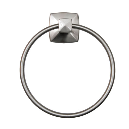 Design House Perth Towel Ring, Satin Nickel Finish