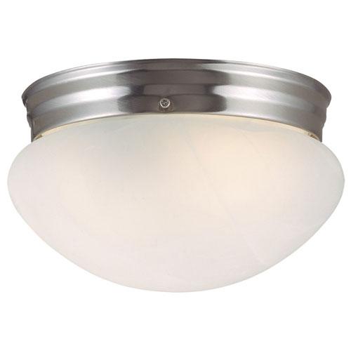 Design House Millbridge Satin Nickel Single-Light Ceiling Mount