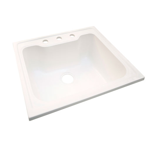 Laundry Sink, 25-inches by 22-inches, Solid White