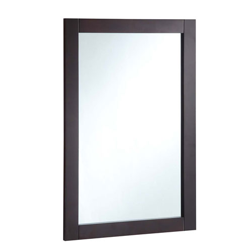 20-inch by 30-inch Vanity Mirror, Espresso