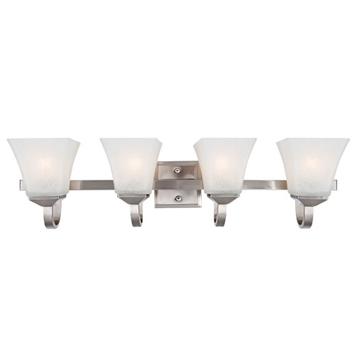 Torino Four-Light Satin Nickel Bath Light Satin Nickel