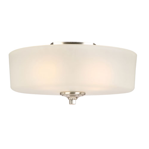 Perth 3-Light Ceiling Mount Light, Satin Nickel Finish