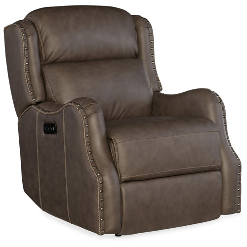 Hooker Furniture Sawyer Power Recliner with Power Headrest
