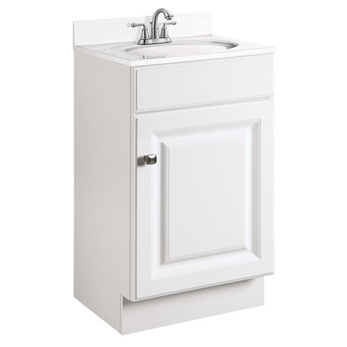 . Design House Wyndham 18 Inch White Semi Gloss Vanity Cabinet without Top