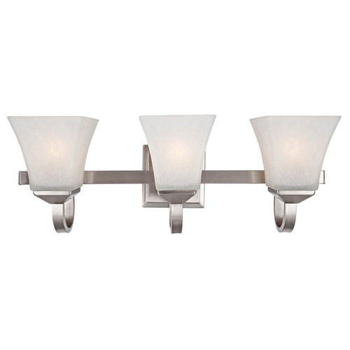 Torino Three-Light Satin Nickel Bath Light Satin Nickel