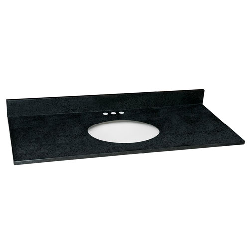 Design House Richland Black Pearl Single Bowl Granite Vanity Top 49