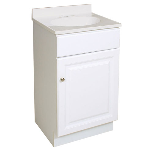 Design House Wyndham 18-Inch White Semi-Gloss Vanity Cabinet without Top