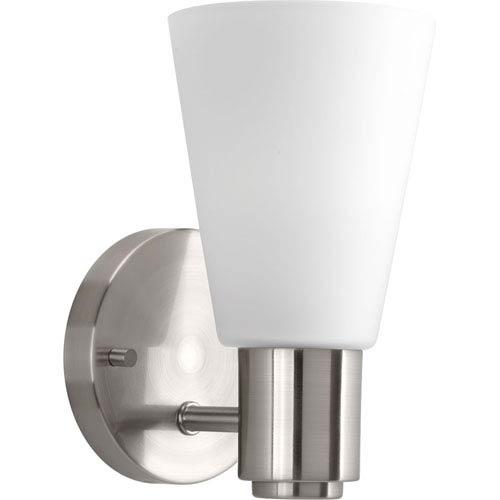 P2154-09: Logic Brushed Nickel One-Light Bath Sconce