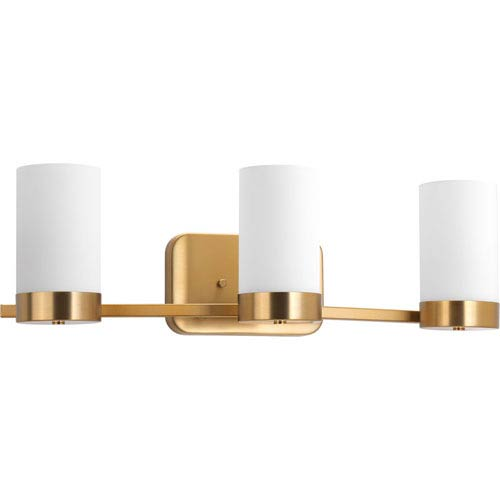 Progress Lighting P300022-109: Elevate Brushed Bronze Three-Light Bath Sconce