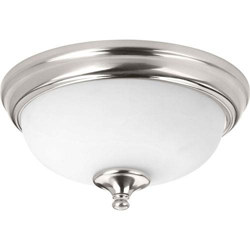Progress Lighting P350001-009-30: Brushed Nickel Energy Star One-Light LED Flush Mount