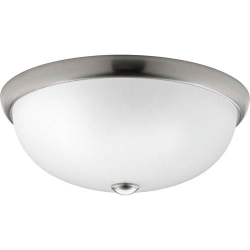 P350045-009: Glass Domes Brushed Nickel Three-Light Flush Mount