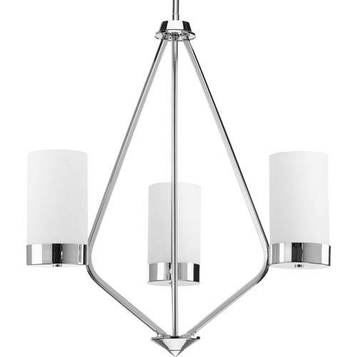 P400021-015: Elevate Polished Chrome Three-Light Chandelier