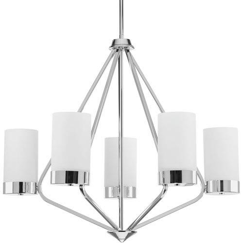 Progress Lighting P400022-015: Elevate Polished Chrome Five-Light Chandelier