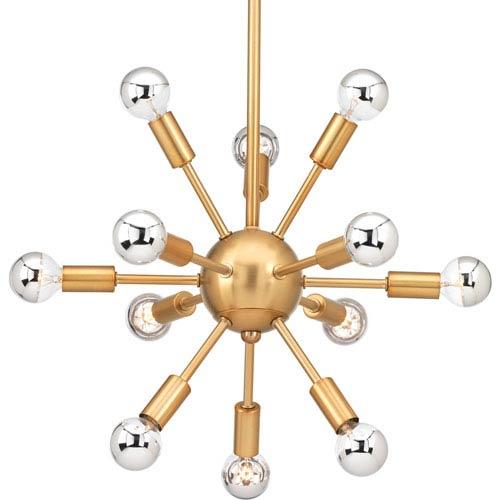 Progress Lighting P400040-109: Ion Brushed Bronze Twelve-Light Sputnik Pendant
