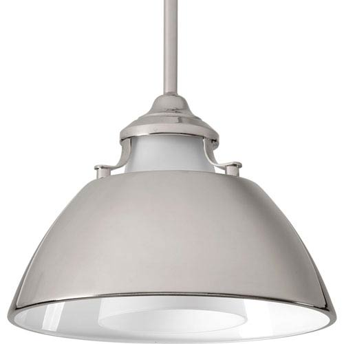 P500013-104: Carbon Polished Nickel One-Light Pendant