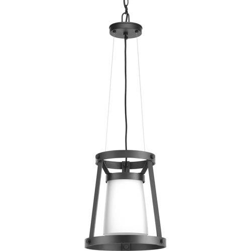Progress Lighting P500025-143: Mobi Graphite One-Light Pendant