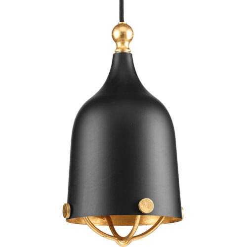 P500032-031: Era Black One-Light Mini Pendant