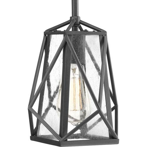 P5073-143: Marque Graphite One-Light Mini Pendant