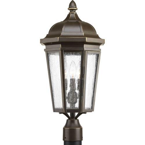 P540002-020: Verdae Antique Bronze Three-Light Outdoor Post Mount