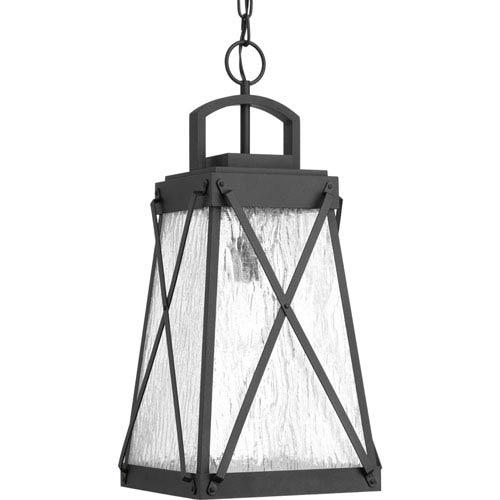 P550009-031: Creighton Black One-Light Outdoor Hanging Lantern