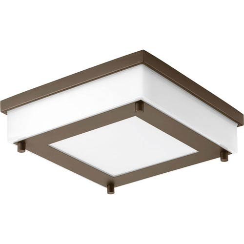 Progress Lighting P560001-129-30: Anson Architectural Bronze Energy Star One-Light LED Flush Mount