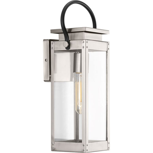 P560004-135: Union Square Stainless Steel One-Light Outdoor Wall Mount