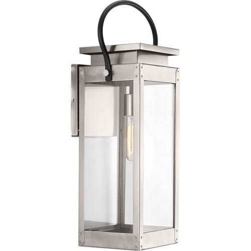 Stainless steel outdoor wall lighting free shipping bellacor p560006 135 union square stainless steel one light outdoor wall mount aloadofball Choice Image