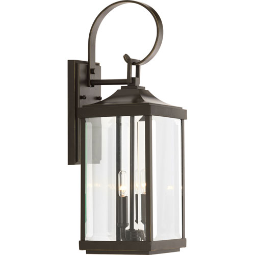 P560022-020: Gibbes Street Antique Bronze Two-Light Outdoor Wall Mount