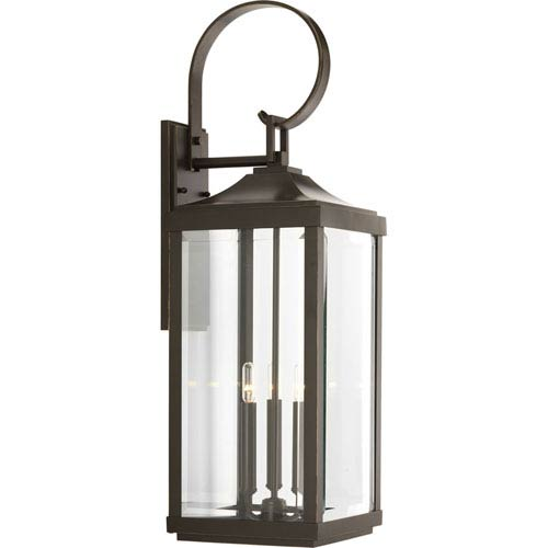P560023-020: Gibbes Street Antique Bronze Three-Light Outdoor Wall Mount